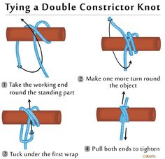 How to Tie a Double Constrictor Knot
