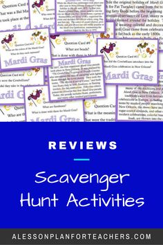 Use Scavenger Hunts to offer so much more to your middle school and high school students and take your basic Social Studies lesson plans up a notch. Scavenger Hunts can be modified and implemented  in any lesson. Read further for 5 reasons you should use Scavenger  Hunts to teach Social Students lessons!