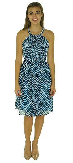 Calvin Klein Women's Halter-Neck Dress -- You can get more details here : Dresses Sale
