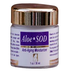 Aloe-SOD (Superoxide Dismutase) Anti-aging Moisturizer - for smoother, younger and radiant complexion. Contains SOD, Shea, ALoe, Chamomile, Vitamin E and Calendula extract. Suitable for all skin types. PARABEN FREE, FRAGRANCE FREE >>> Check out this great product.