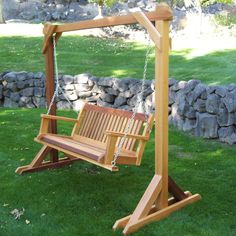 Making a porch swing porch swing stand plans porch swing frame plans outdoor a for great Porch Swing Frame, Porch Swing With Stand, Wood Swing, Pergola Swing, Diy Pergola, Pergola Cover, Outdoor Pergola, Backyard Swings, Backyard Patio