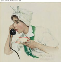 Norman Rockwell Red Rose Tea, ca.1958