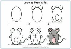 apprendre à dessiner une souris