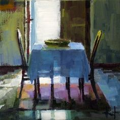 Paintings of interiors by Liza Hirst