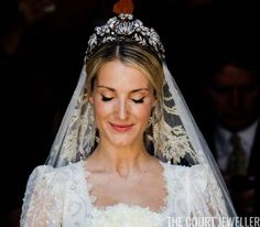 courtjeweller: Wedding of Prince Ernst August Jr of Hanover and Ekaterina Malysheva, Hanover Market Church, July 8, 2017-The bride wore the Hanover Floral Tiara
