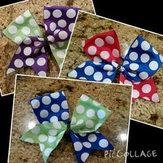 Savvy's Bowtique bows are high quality with low prices!  Buy at Savvyscheerbowtique on Etsy!