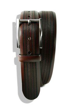 "Trafalgar ""Bentley"" Embossed Leather Belt - Nordstrom"