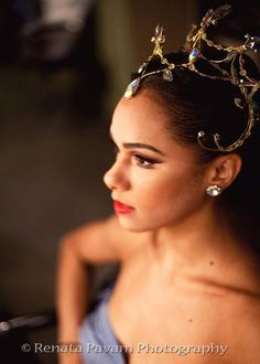 Misty Copeland. Beautiful ballerina and headpiece.