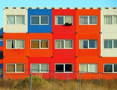 Shipping Container Homes in Amsterdam - via JaviC @ Flickr.    #oceanshipping www.shiplilly.com