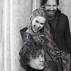 Nikolaj Coster-Waldau (Jaime Lannister), Lena Headey (Cersei Lannister) & Peter Dinklage (Tyrion Lannister)
