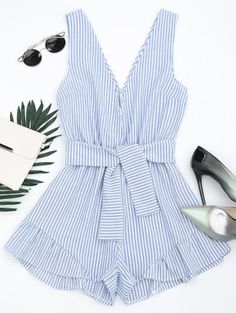 GET $50 NOW | Join Zaful: Get YOUR $50 NOW!http://m.zaful.com/plunging-neck-belted-striped-romper-p_297411.html?seid=4267974zf297411