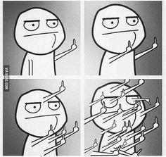 Fuck you. University Memes, Back To University, You Meme, Me Too Meme, Memes Humor, Meme Faces, Funny Faces, Memes Celebridades, Emoticon