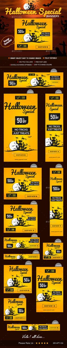 Halloween Sale Web Banner Design Template PSD | Buy and Download: http://graphicriver.net/item/halloween-sale-web-banner-design/8988882?WT.ac=category_thumb&WT.z_author=doto&ref=ksioks