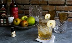 A New Old Fashioned Cocktail with Hard Cider, Rye, and Cherry Liqueur - Eat Boutique - Food Gift Love - Trend Cocktail Garnishes 2019 Cocktail Garnish, Cocktail Glass, Cherry Liqueur, Cider Cocktails, Fluffy Sweater, Old Fashioned Cocktail, Bourbon Whiskey, Food Gifts, Beverages