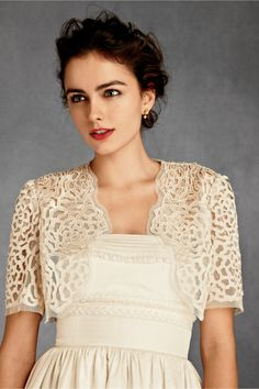 Petal Panes Bolero from BHLDN. $180. Mother of the bride. #wedding #MOB