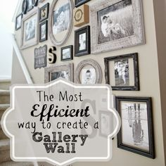 Most Efficient Way to Create a Gallery Wall A few simple tricks for creating a perfect gallery wall.The Most Efficient Way to Create a Gallery Wall A few simple tricks for creating a perfect gallery wall. Stairway Gallery, Gallery Walls, Stair Gallery Wall, Stairway Photos, Travel Gallery Wall, Gallery Wall Frames, Art Gallery, Decoration Inspiration, Home And Deco