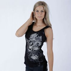 """ROSES & FLEUR Tank Top, made in USA! $25.00 + FREE shipping when you enter the coupon code """"PINTEREST"""" during checkout online #fleurdelis #LSU #LA #madeinusa #fashion"""