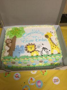 Safari Baby Shower Cake Baby Shower Safari Baby Shower Cake