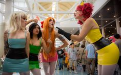 Powerpuff Girls at Anime Expo 2014 - We need someone to be Bubbles and we could rock a Powerpuff cosplay.