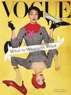 """Vogue"" Magazine Cover: October, 1957."