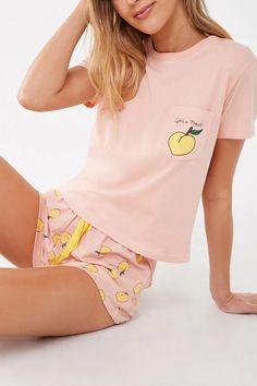Lifes A Peach Graphic Pajama Set , Source by greenben_love Sets Cute Pajama Sets, Cute Pajamas, Pyjama Sets, Xmas Pajamas, Comfy Pajamas, Sexy Pajamas, Pj Sets, Cute Sleepwear, Sleepwear Women