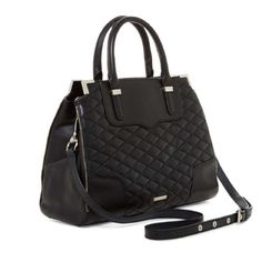 New Rebecca  Minkoff quilted leather satchel Black with silver hardware. Super cute bag just not big enough for my liking. Rebecca Minkoff Bags Satchels