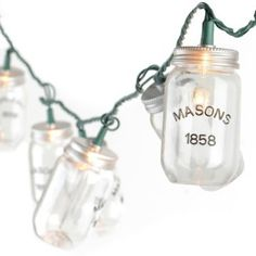 Mason jar string lites. Adorable!
