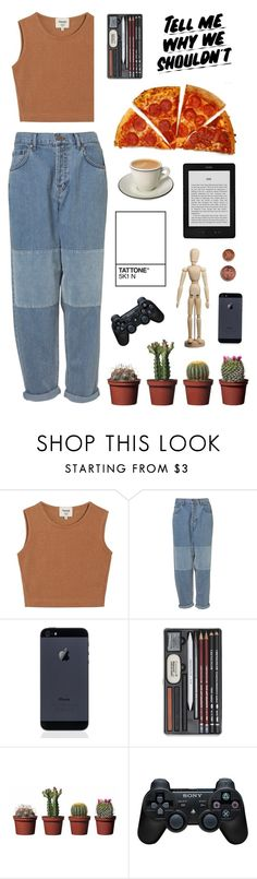 """MEG - monica e. geller"" by directionerwithsass ❤ liked on Polyvore featuring Samuji, Sony and Baron Von Fancy"