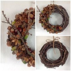 kastanien deko diy kranz herbst diy kranz herbst Get more photo about subject related with by looking at photos gallery at the bottom of this page. Autumn Crafts, Holiday Crafts, Christmas Crafts, Christmas Decorations, Pine Cone Crafts, Acorn Crafts, Diy Fall Wreath, Autumn Inspiration, Handmade Decorations