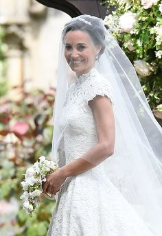 Pippa Middleton' s wedding day! / Sister to Kate Middleton!  God Bless her!  She looks beautiful!  (: