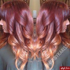 Love the color combo. Love the color combo. Loose Waves Hair, Wave Hair, Hair Heaven, Queen Hair, Peruvian Hair, Loose Hairstyles, Crazy Hair, Cool Hair Color, Brazilian Hair