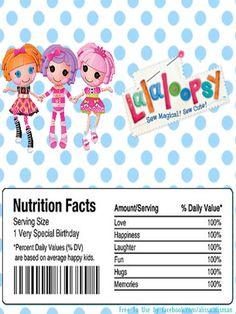 lalaloopsy drink label