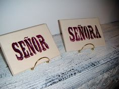 Senor & Senora Wedding signs Spanish Wedding by AndTheSignSays