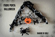 #Fuoriporta #handmade per #halloween semplice e veloce da realizzare. Con pochi materiali facilmente reperibili ed economici!  Segui il #tutorial sul mio blog: http://raggiodisolecreazioni.blogspot.de/2015/10/fuoriporta-per-halloween.html