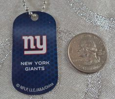 NFL New York Giants Blue Dogtag Keychain or Necklace Backpacks Gift Party  #NFL #NewYorkGiants