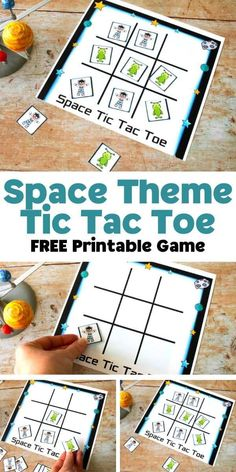 Problem Solving Activities, Space Activities, Autumn Activities, Toddler Activities, Space Games For Kids, Games To Play, Star Citizen, Tic Tac Game, Alien Games