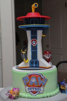 Torta de Paw Patrol. Perfecto para una celebración temática.#PatrullaCanina #tarta