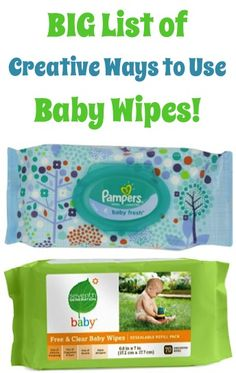 BIG List of Creative Ways to Use Baby Wipes! ~ from TheFrugalGirls.com - you'll love these fun cleaning tricks and handy non-traditional diy uses for Baby Wipes! #thefrugalgirls