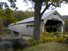 One of the covered bridges in Brattleboro, Vermont
