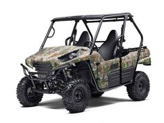 New 2015 Kawasaki TERYX CAMO ATVs For Sale in Ohio. 2015 KAWASAKI Teryx Camo, A camouflaged two-seater with a trophy list of bold features. The 2015 Kawasaki Teryx Camos genuine Realtree Xtra Green Camo graphic treatment is designed to keep it from being spotted easily, but with massive power, a rugged chassis and premium Fox Podium high performance shocks, the Teryx Camo Side x Side cant help but make a bold statement wherever it goes... and it can go just about anywhere!