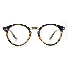 Nerd Brille filigran rund Glasses Klarglas Hornbrille treber 22E68 Leopad
