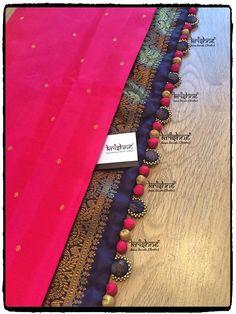 Designer Saree Tassel / Kuchu / Latkans /Potli from Krishne Tassels Saree Tassels Designs, Saree Kuchu Designs, Silk Saree Blouse Designs, Fancy Blouse Designs, Bridal Blouse Designs, Saree Border, Dress Neck Designs, Silk Thread Bangles, Sarees