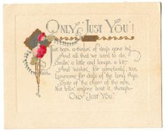Vintage Art Deco Only Just You Post Greeting Card | eBay
