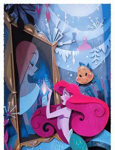 Disney WonderGround Gallery Mermaid Ariel What's A Fire Print by Brittney Lee Disney Princess Art, Disney Fan Art, Disney Love, Walt Disney Animation Studios, Disney Musik, Diorama, Brittney Lee, Karten Diy, Pinturas Disney