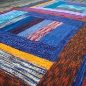 Itty Bitty Sockyarn Bits Blanket - via @Craftsy