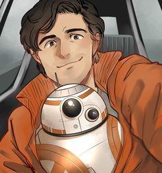 Poe and BB-8 by kadeart