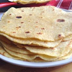Made with yellow cornmeal or maize meal, these Homemade Corn Tortillas are perfect for burritos, enchiladas, or any filling or topping of your choice. Really easy to make and so much better homemade. Corn Tortilla Recipe Cornmeal, Corn Tortilla Recipes, Recipes With Flour Tortillas, Homemade Corn Tortillas, Bread Recipes, Skillet Recipes, Yellow Cornmeal, Breakfast Snacks, Coconut Recipes