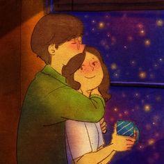Un abbraccio dato al momento giusto non ha prezzo Cute Couple Drawings, Cute Couple Art, Cute Drawings, Cute Couples, Love Is Sweet, What Is Love, Couple Illustration, Illustration Art, Puuung Love Is