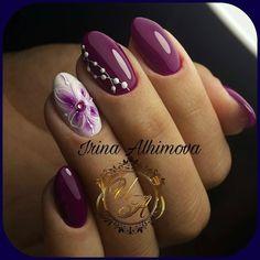 Installation of acrylic or gel nails - My Nails Shellac Nails, Diy Nails, Cute Nails, Pretty Nails, Acrylic Nails, Glam Nails, Nail Nail, Nail Polish, Fingernail Designs