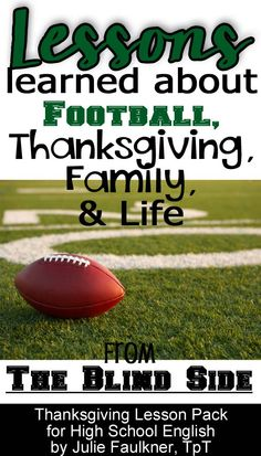 Thanksgiving lessons for high school students, high school English, black Friday, teacher resources, teaching, Thanksgiving activities, the blind side, football